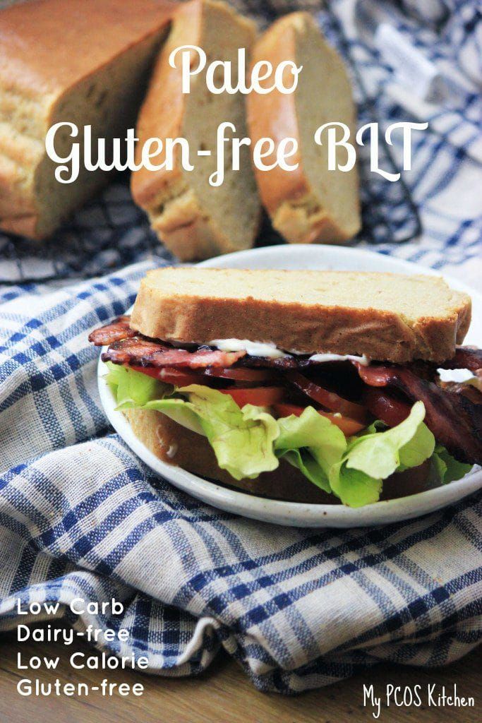 My PCOS Kitchen - Gluten-free BLT - A gluten-free and low carb cashew nut bread made with avocado oil mayonnaise!