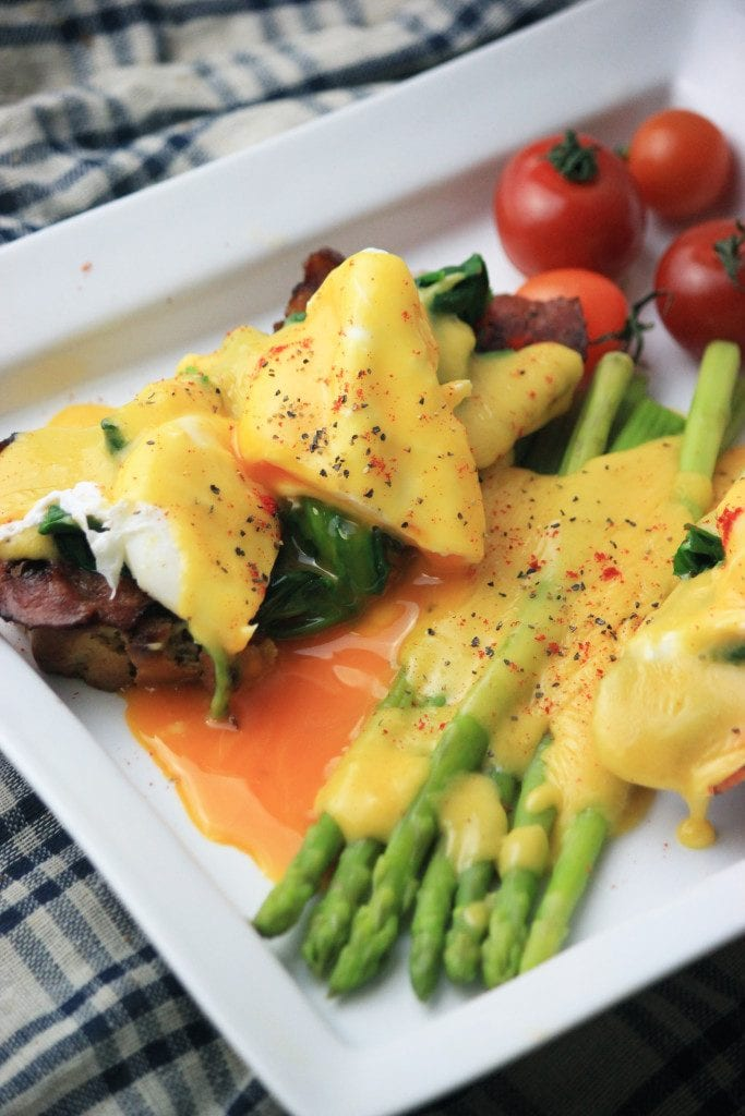 My PCOS Kitchen - Eggs Benedict with Ghee Hollandaise - A delicious creamy hollandaise sauce made with some delicious ghee instead of butter.