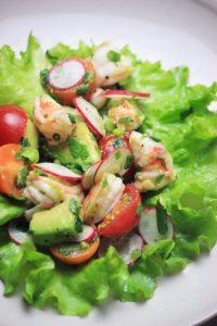 Lettuce Wrap Shrimp Tostadas