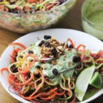 Spiralized Salad with Cilantro Dressing