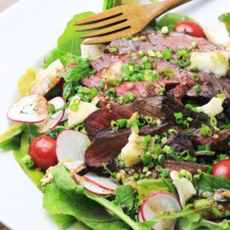 Flank Steak & Chèvre Arugula Salad