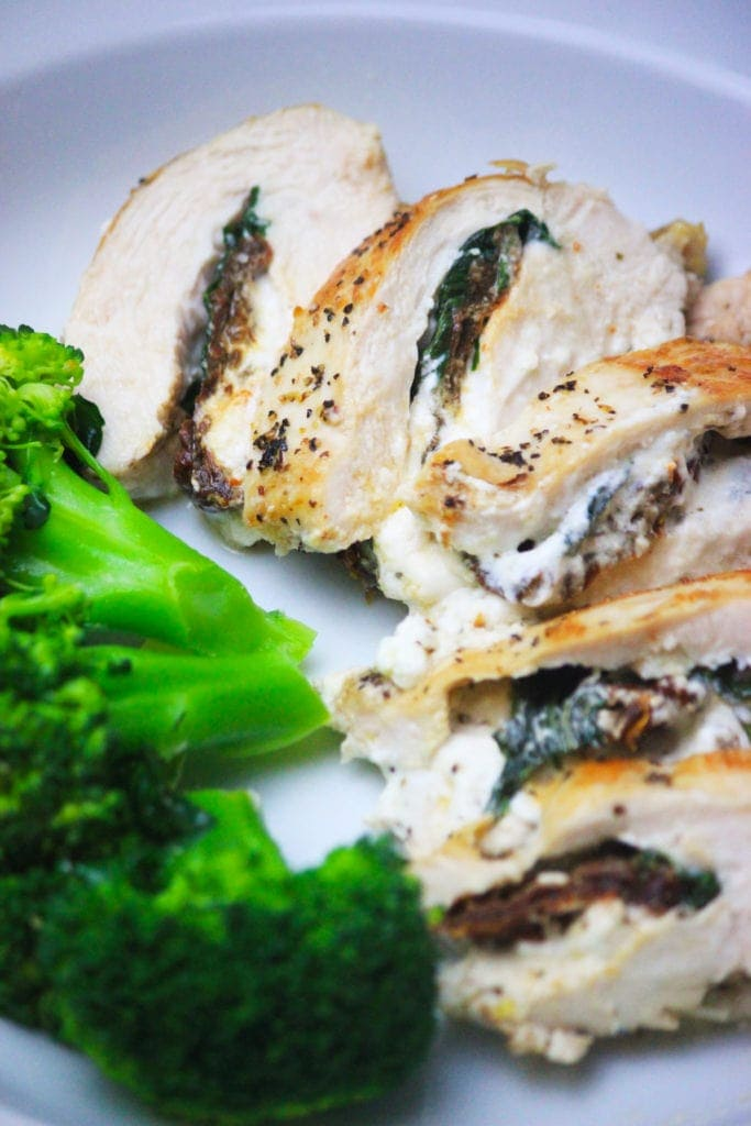 Stuffed Chicken Breasts with Goat Cheese & Tomatoes - My ...