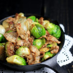 Brussels Sprouts with Bacon. This dish is perfect for those on a low carb and Paleo diet, or those who just want to eat healthy!