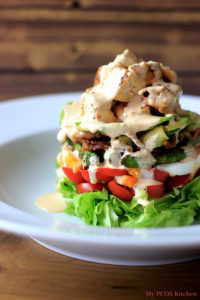 Paleo Cobb Salad & Buffalo Ranch Dressing