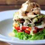 Paleo Cobb Salad & Buffalo Ranch Dressing
