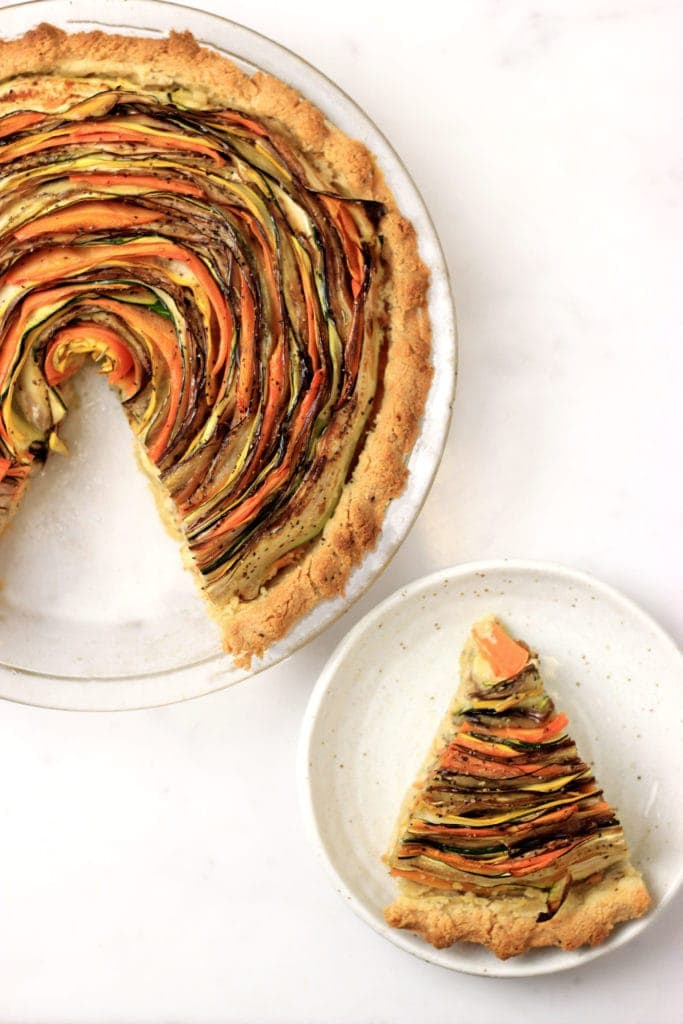 Paleo Spiral Vegetable Tart - My PCOS Kitchen (Dairy & Gluten-free)