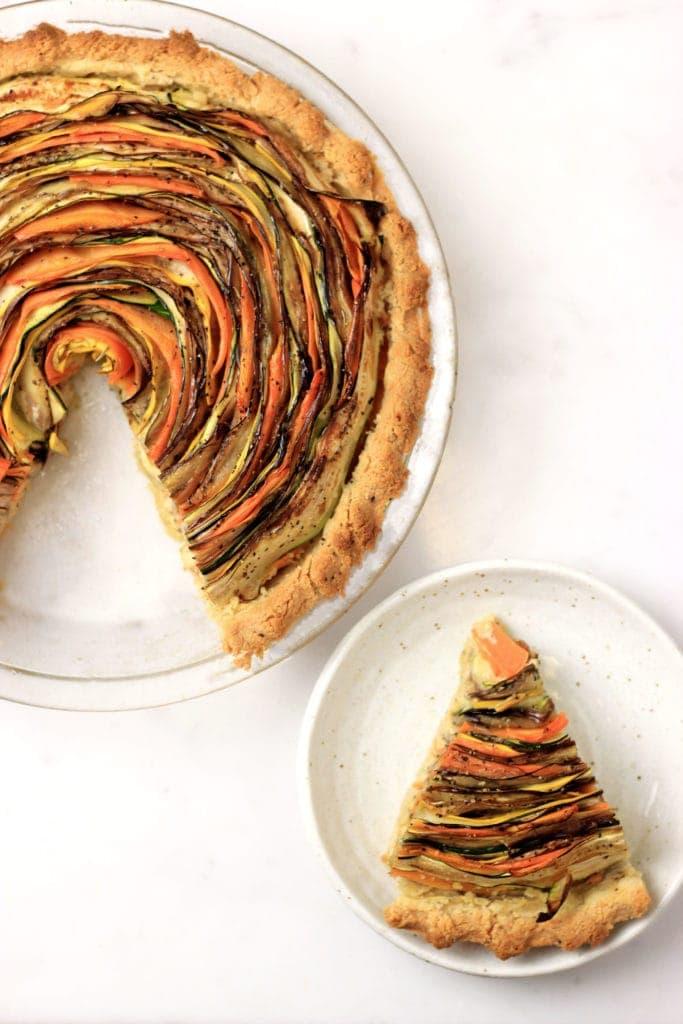 Paleo Spiral Vegetable Tart