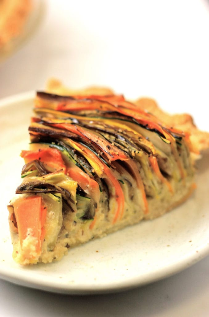 Paleo Vegetable Spiral Tart that is gluten-free, dairy-free and low-carb!