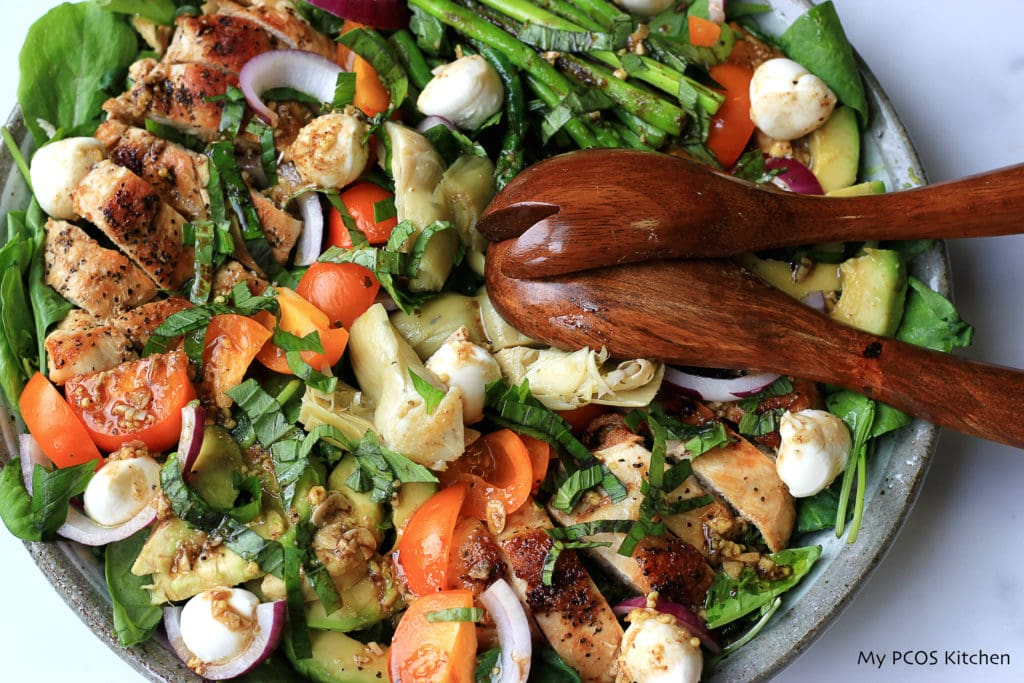 Loaded Chicken Salad - My PCOS Kitchen - Low Carb - Gluten-free - Sugar-free - Keto