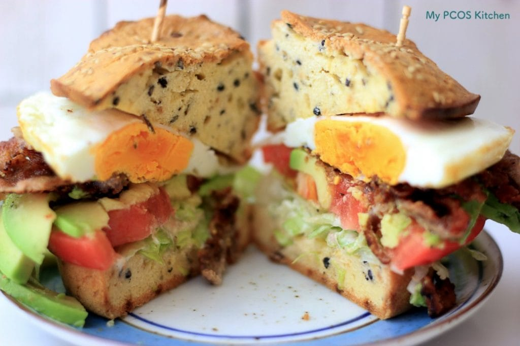 My PCOS Kitchen - The Ultimate Keto Buns - These low carb buns are only 1.33g net carb! They are perfect for sandwiches, burgers, toast and so on!