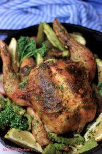 Keto Paleo Roast Chicken & Veggies