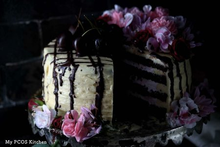 My PCOS Kitchen - Low Carb Chocolate Birthday Cake - This delicious gluten-free and sugar-free cake is the perfect treat for a very special day.