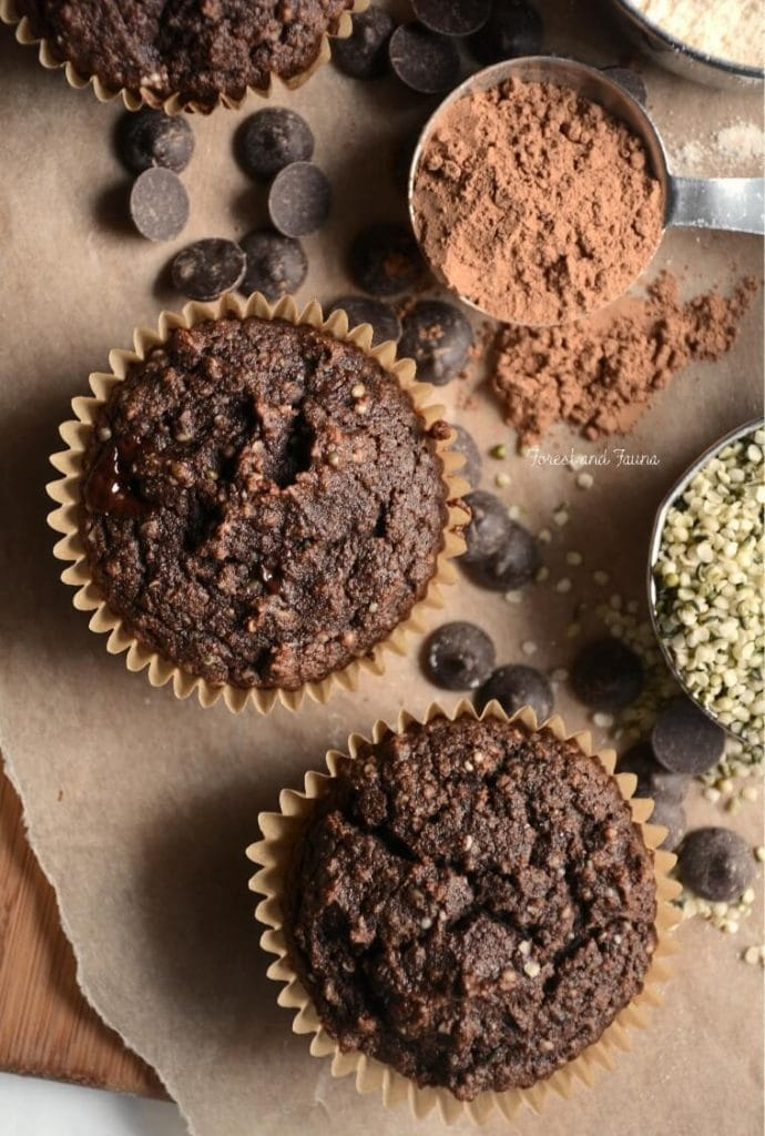 Chocolate Hemp Protein Muffins - Forest and Fauna - 20 Low Carb Dairy-free Baked Goodies Recipes Roundup