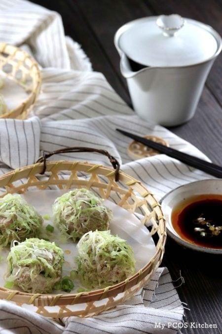 Keto Paleo Shrimp & Pork Shumai