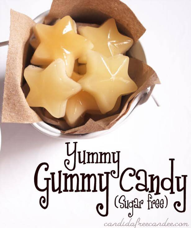 My PCOS Kitchen - Whole New Mom - Low Carb Halloween Recipes Roundup - This healthy gummy candy is easy to make and much better for you than the store bought gummies. Full of good nutrition, plus they're gluten and sugar free!