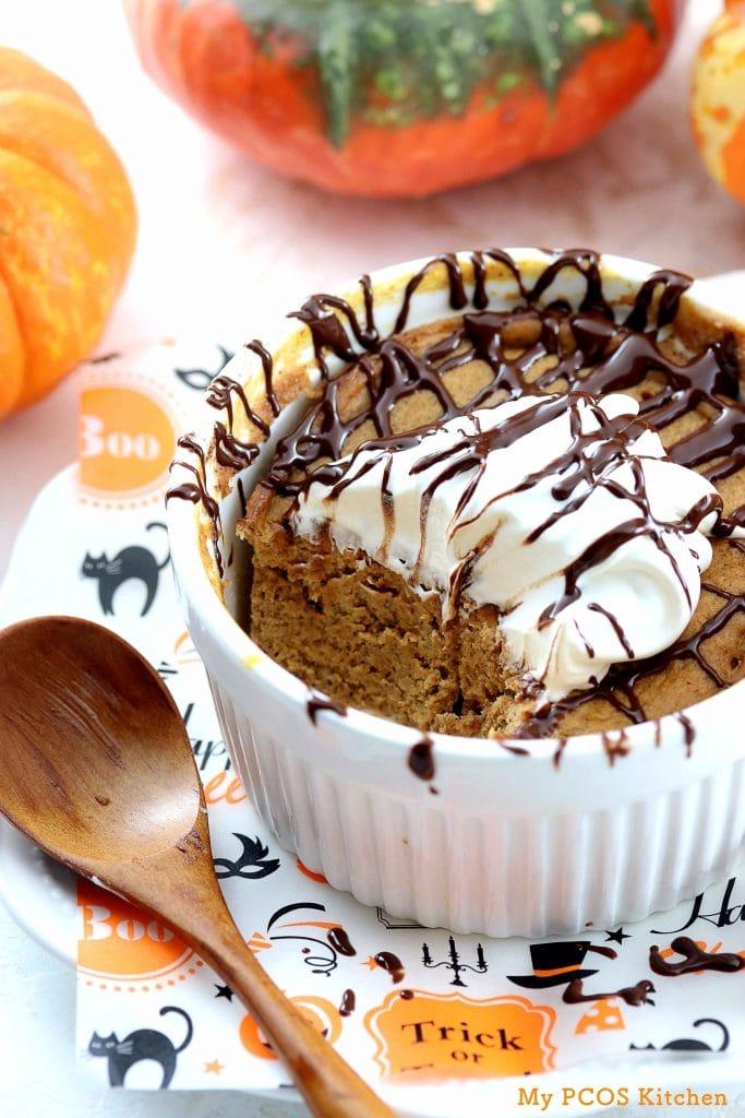 Low Carb Pumpkin Mug Cake (Keto/Paleo) - My PCOS Kitchen