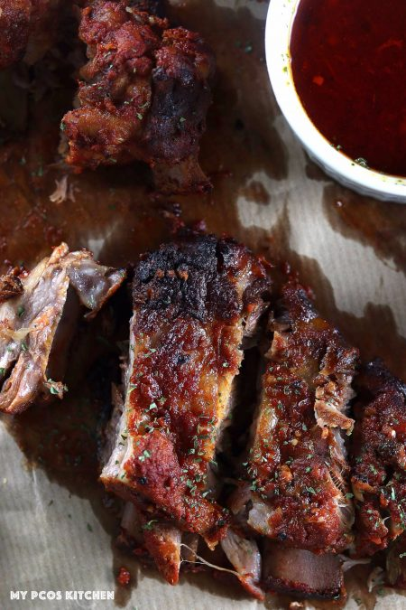 Low Carb Smoky BBQ Spare Ribs