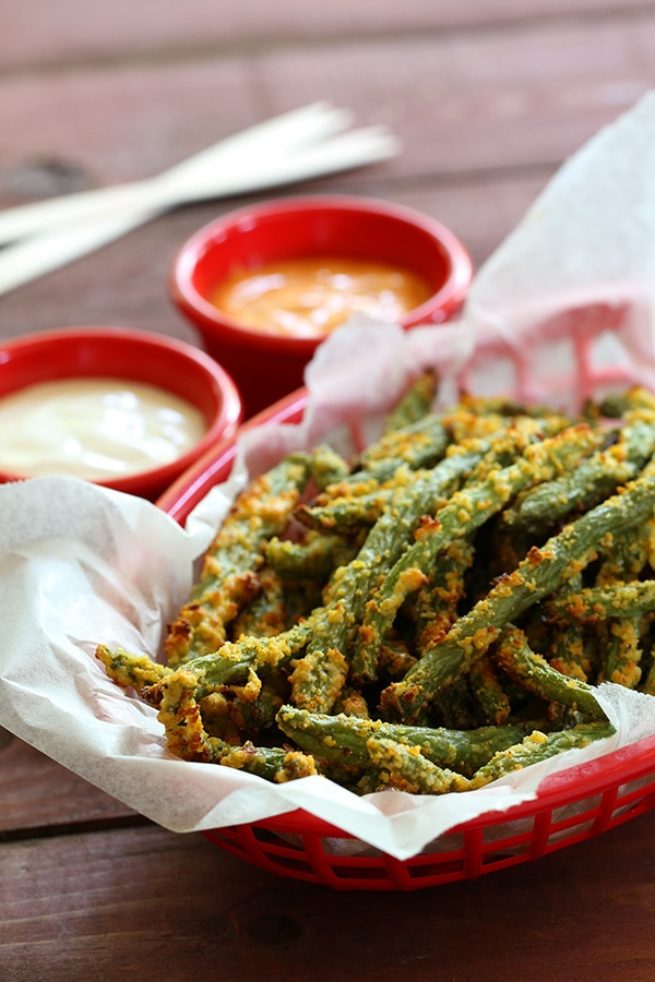 My PCOS Kitchen - Tasteaholics - 40+ Low Carb Thanksgiving Recipes - Green Bean Fries
