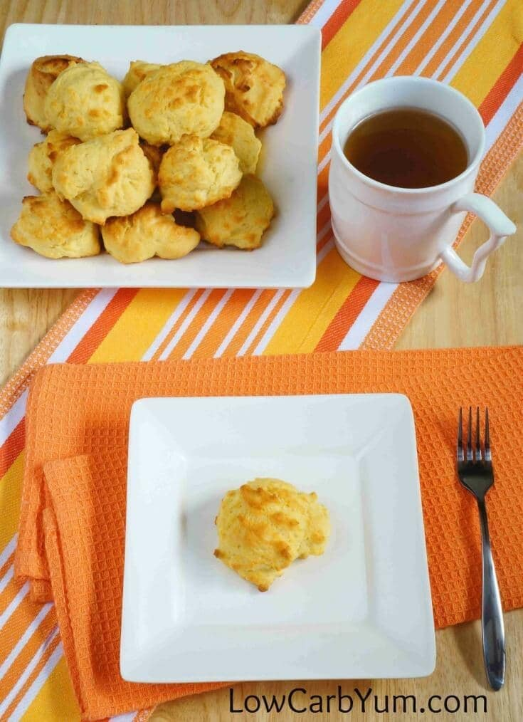 My PCOS Kitchen - Low Carb Yum - 40+ Low Carb Thanksgiving Recipes - Coconut Flour Biscuits with Cheese & Garlic