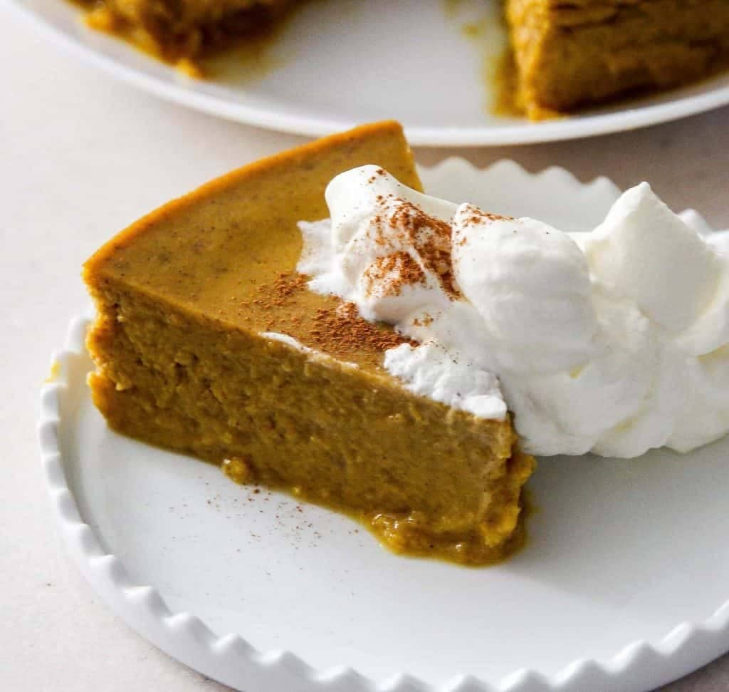 My PCOS Kitchen - Two Sleevers - 40+ Low Carb Thanksgiving Recipes - Pressure Cooker Keto Low Carb Pumpkin Pie Pudding