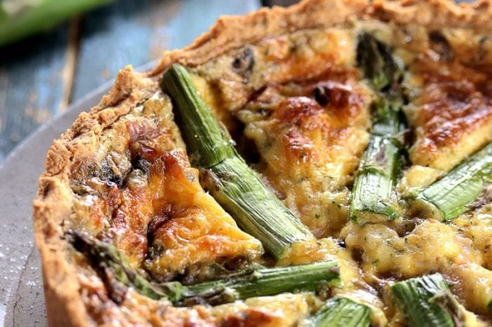 Low Carb Quiche with Mascarpone & Asparagus
