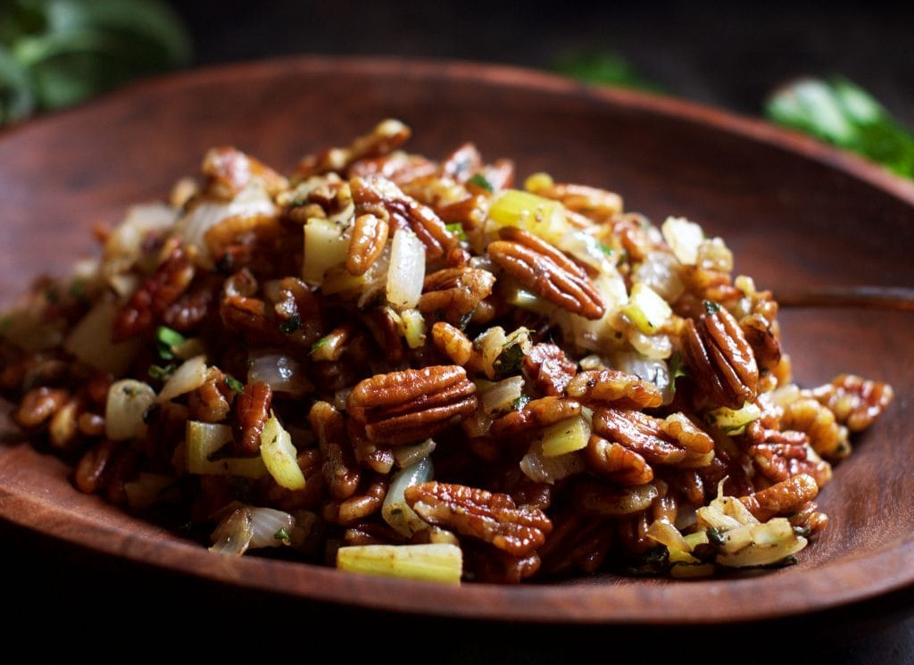 My PCOS Kitchen - Simply So Healthy - 40+ Low Carb Thanksgiving Recipes - Low Carb Pecan Stuffing