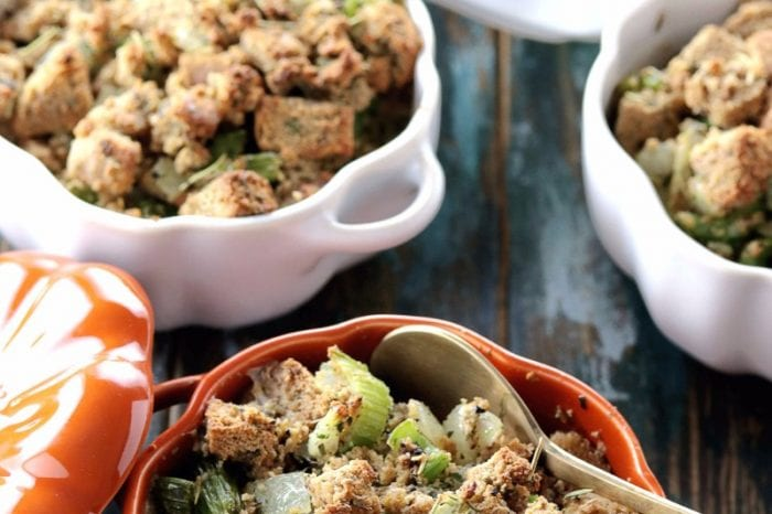 Low Carb Stuffing with Paleo Bread & Sausage