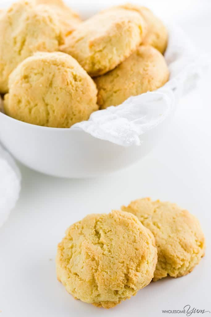 My PCOS Kitchen - Wholesome Yum - 40+ Low Carb Thanksgiving Recipes - Paleo Almond Flour Biscuits