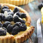 Low Carb Lemon Curd Tart with Blackberries