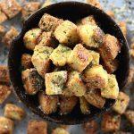 Low Carb Gluten Free Garlic Croutons