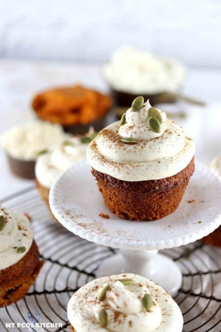 Keto Low Carb Pumpkin Spice Cupcakes Recipe